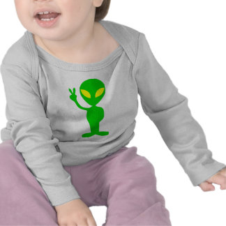 Alien Peace Sign T Shirt
