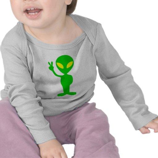 Alien Peace Sign T Shirt