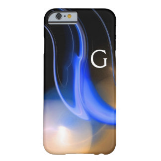 ALIEN PEARL / BLUE BLACK WHITE ABSTRACT Monogram Barely There iPhone 6 Case