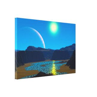 Alien planet canvas print