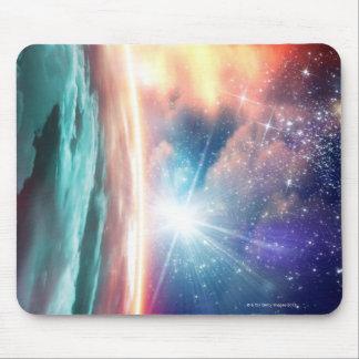 Alien planet, computer artwork. mouse pad