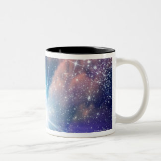 Alien planet, computer artwork. Two-Tone coffee mug