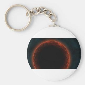 Alien planet key chain