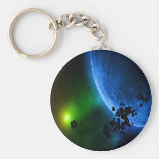 Alien Planets Basic Round Button Keychain