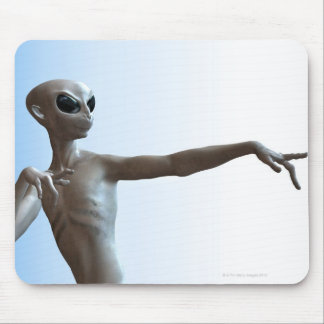 Alien Pointing Mouse Pad
