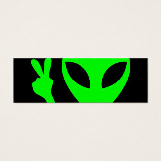 Alien Portrait Mini Business Card