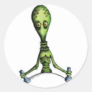 Alien Ride Round Stickers