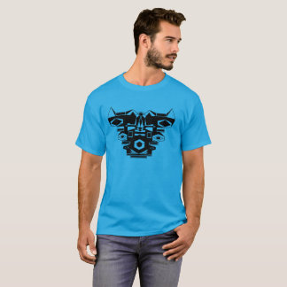 Alien Robot Chest Armor Graphic T-Shirt