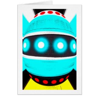 Alien robot greeting card