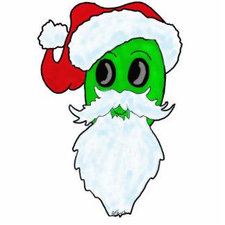 Alien Santa Christmas Tree Ornament Photo Sculpture Ornament