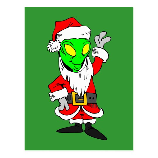 alien Santa Claus Postcard