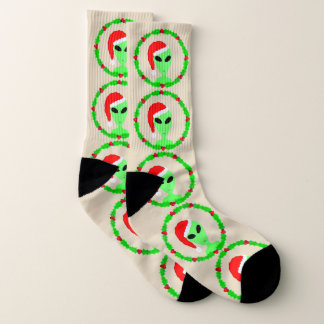 Alien Santa Holly Wreath LRG Fun Ugly Christmas 1