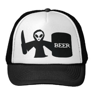 alien shotgun trucker hat