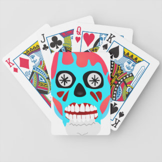 Alien Skull Bicycle Playing Cards