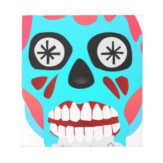 Alien Skull Notepad