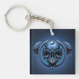 Alien Skulls Double-Sided Square Acrylic Keychain