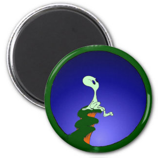 Alien skywatching color magnet