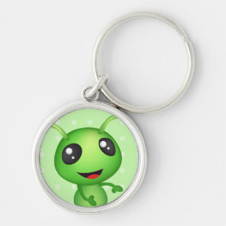 """Alien Small (1.44"""") Premium Round Keychain"""