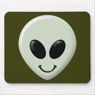Alien Smiley Face Mouse Pad