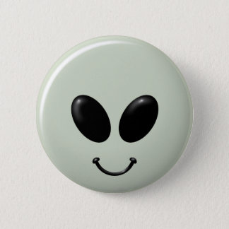 Alien Smiley Face.png 2 Inch Round Button