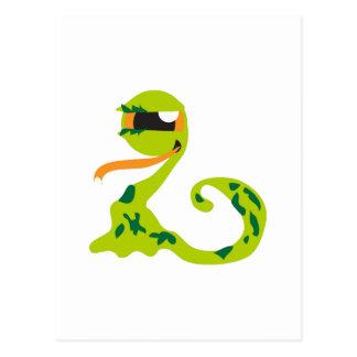Alien Snake Postcard