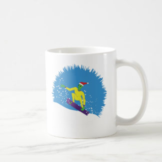Alien Snowboarder Coffee Mug
