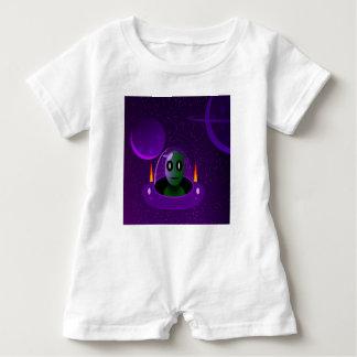 Alien space baby romper