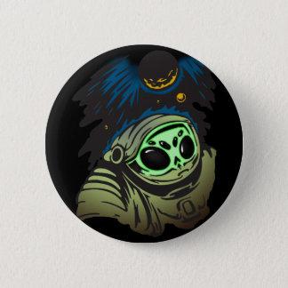 Alien Space Exploration 2 Inch Round Button