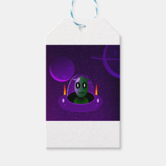 Alien space gift tags