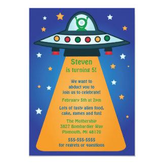 Alien Spaceship Birthday Party Invitations