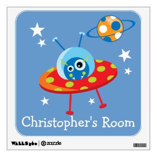 Alien Spaceship Wall Sticker