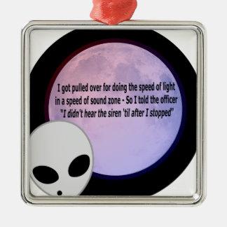 Alien Speed Joke.png Metal Ornament