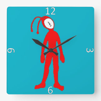Alien Square Wall Clock