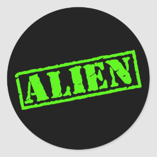Alien Stamp Classic Round Sticker