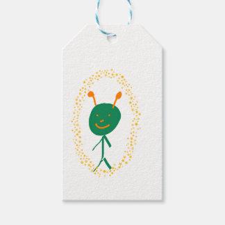 Alien stars gift tags