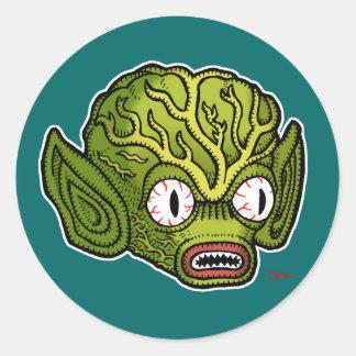 Alien Sticker Rond