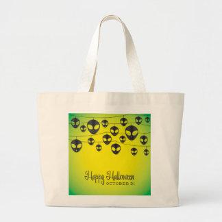 Alien string large tote bag