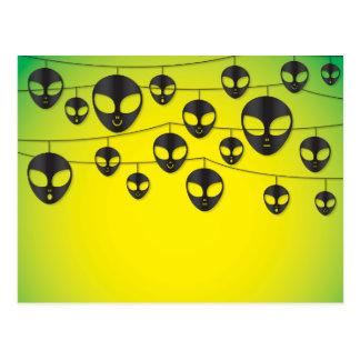 Alien string postcard