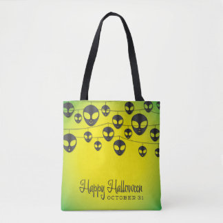 Alien string tote bag