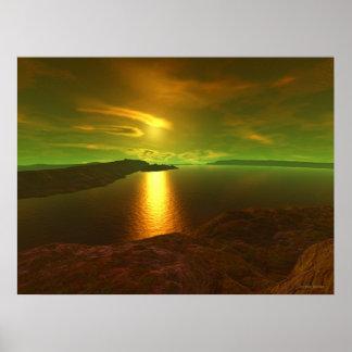 Alien sunset  poster