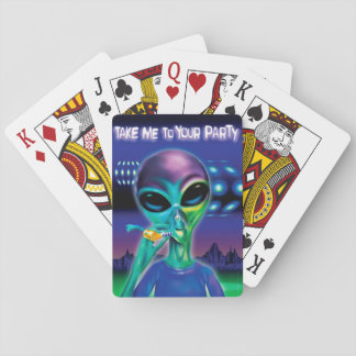 Alien 'Take me to your Party' playing cards