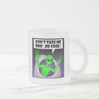 ALIEN TAZE-1 10 OZ FROSTED GLASS COFFEE MUG
