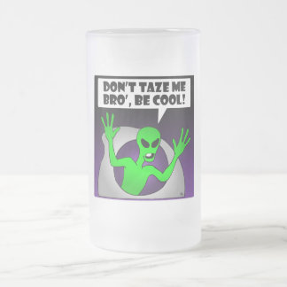 ALIEN TAZE-1 16 OZ FROSTED GLASS BEER MUG