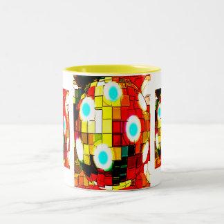Alien time machine Two-Tone coffee mug