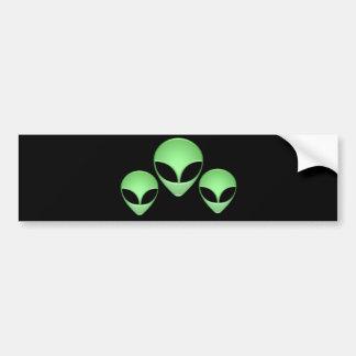 Alien Trio Bumper Sticker