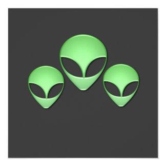 Alien Trio Invitation
