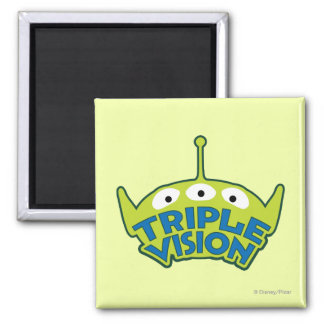 Alien Triple Vision Square Magnet