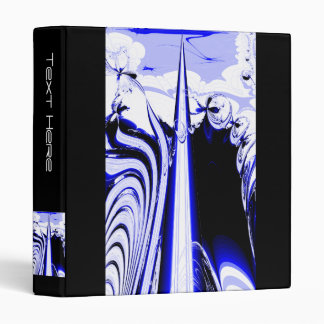 Alien Tropics - Fractal Art Design. Blue and White Binder