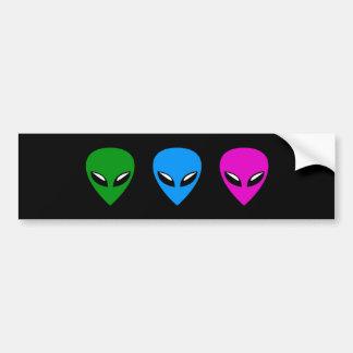 Alien UFO Bumper Sticker