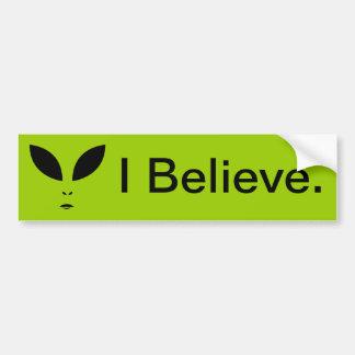 Alien (UFO) I BELIEVE Bumper Sticker